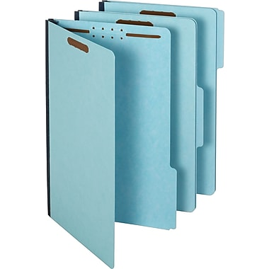 Staples Pressboard Fastener Folders, Legal, 3