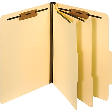 Staples Manila Classification Folders, Letter, 2 Partitions, 10/Box