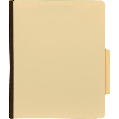 Staples® Manila Classification Folders, Letter, 2/5-Cut Top Tabs, 1 Partition, 10/Box (98601S)