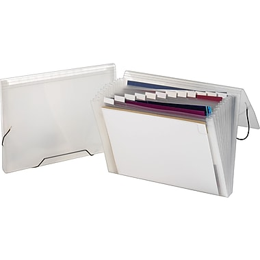 Staples® Poly Colors™ Expanding Files, Clear, Letter, Each