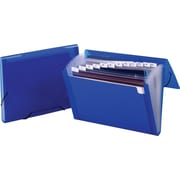 Staples® Poly Colors™ Expanding Files, Blue, Letter, Each
