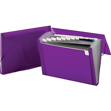 Staples® Poly Colors Expanding Files, Violet, Each