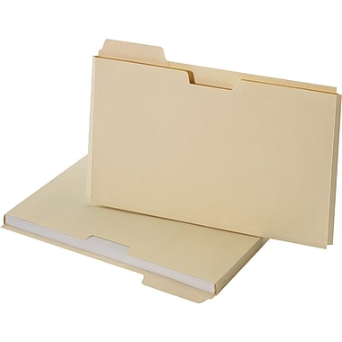 Staples® File Folder Jackets, Legal, Manila, 150 Sheet Capacity , 10/Pack