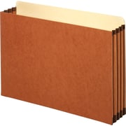 "Staples® 3-1/2"" Heavy Duty Expanding File Drawer Pockets, Legal Size, Brown, 10/Box (FC1526ESB)"