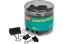 Staples® Black Metal Binder Clips