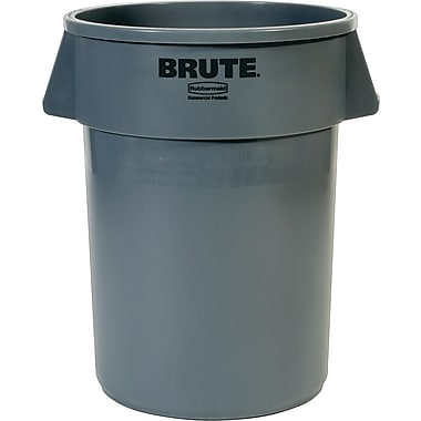 Rubbermaid Brute Container, Gray, 44 gal.