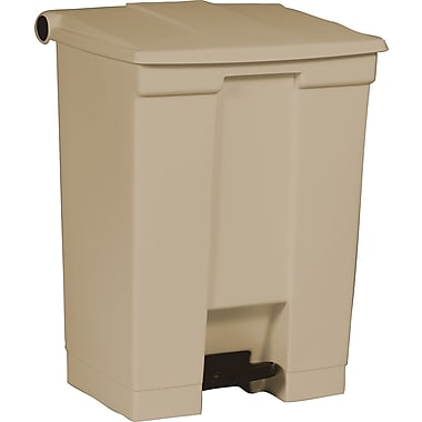 Rubbermaid Fire-Safe Step-On Receptacle, Beige, 18 gal.