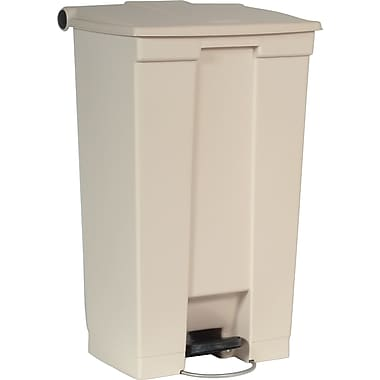 Rubbermaid Fire-Safe Step-On Receptacle, Beige, 23 gal.
