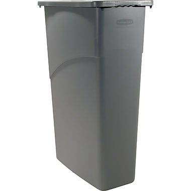 Rubbermaid Slim Jim Wastebasket, 23 gal.