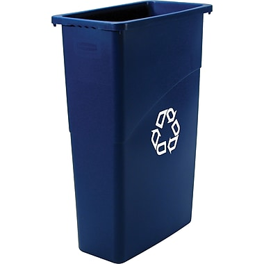 Rubbermaid Slim Jim Recycling Container, 23 gal.