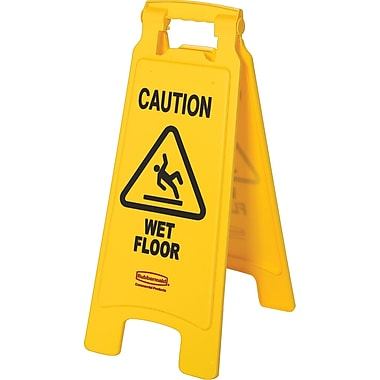 Rubbermaid in.Cautionin. Wet Floor Sign