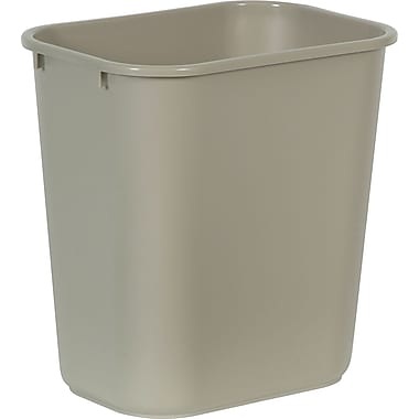 Brighton Professional™ Wastebaskets,  Beige, 7 gal.