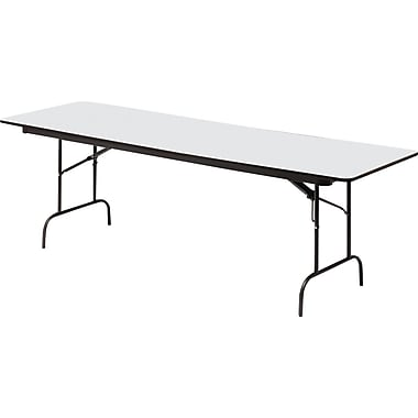 Iceberg 8' Heavy-Duty Melamine Folding Banquet Table, Gray