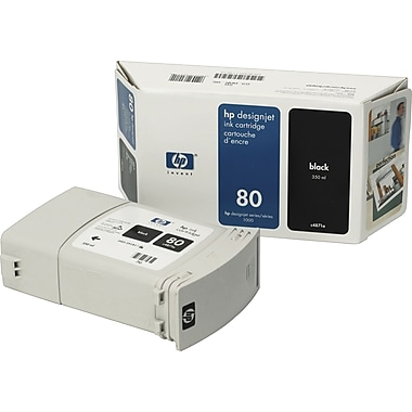 HP 80 Black Ink Cartridge (C4871A), High Yield