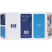 HP 80 Cyan Ink Cartridge (C4872A), 175ml