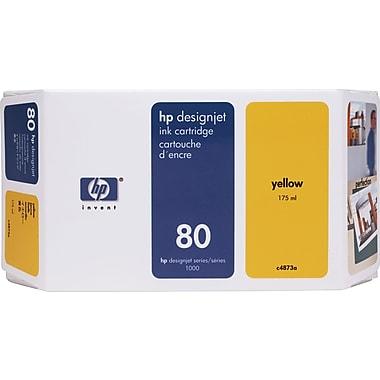 HP 80 Yellow Ink Cartridge (C4873A), 175ml