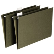 Staples® Hanging File Folders, 5-Tab, Legal, Standard Green, 50/Box (490853)
