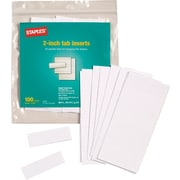 "Staples® Hanging Folder Tab Inserts, 2"", 100/Pack (117762)"