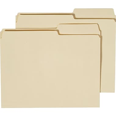 Staples® Guide-Height Manila File Folders, Letter, Extreme Right, 100/Box