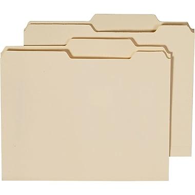 Staples® Guide-Height Manila File Folders, Letter, Right of Center, 100/Box
