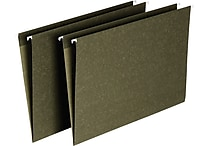 Staples® Hanging File Folders, 5-Tab, Legal, Standard Green, 25/Box (521252)