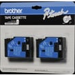 Brother 2pk 1/2in. Black on Clear tape