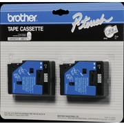 Brother 2pk 1/2 Black on Clear tape