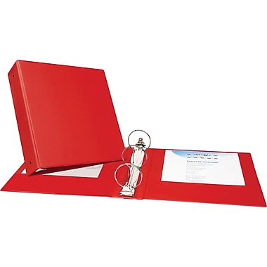 3in. Avery® Economy Binder with Round Rings, Red