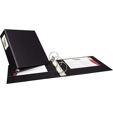3in. Avery® Economy Binder with Label Holder and Round Rings, Black