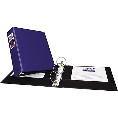 3in. Avery® Economy Binder with Label Holder and Round Rings, Blue