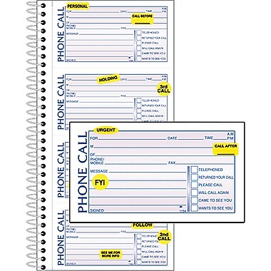 Adams® Professional Phone Message Book