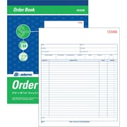 "Adams® Carbonless Sales Order Form Book, 8-3/8"" x 10-7/16"", 2 Part"