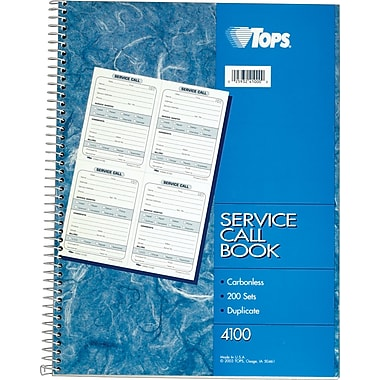Tops Service-Call Books