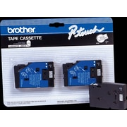 "Brother TC20 1/2"" Tape, Black on White, 2/Pack"