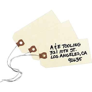 Avery® General Purpose Manila Tags, Pre-Wired, 4-1/4in. x 2-1/8in.