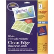 "Avery® Clean Edge 2-Side Printable Inkjet Business Cards, White, 2"" x 3 1/2"",200/Pack"