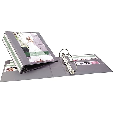 3in. Avery® Heavy-Duty View Binder with One Touch Slant-D™ Rings, Gray