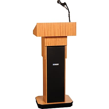 Amplivox Executive Adjustable Height Sound Column Lectern (OK)