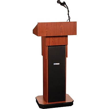 Amplivox Executive Adjustable Height Sound Column Lectern (WT)