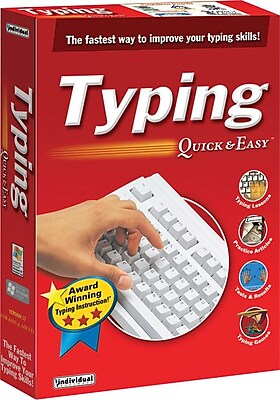 Individual Software Typing Quick Easy 17 for Windows 1 User [Boxed]