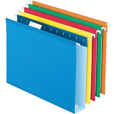 Pendaflex® Box-Bottom Hanging File Folders, Letter, 2in. Capacity, Assorted Colors, 25/Box