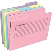 Pendaflex® Pre-Printed Fastener Folders, Letter, Assorted, 30/Box