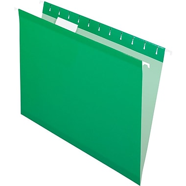 Pendaflex 5 Tab Hanging File Folders, Letter, Bright Green, 25/Box