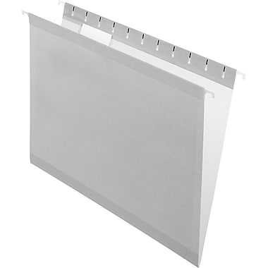 Pendaflex 5 Tab Hanging File Folders, Letter, Gray, 25/Box