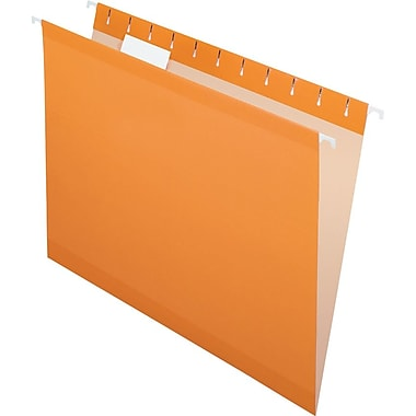 Pendaflex 5 Tab Hanging File Folders, Letter, Orange, 25/Box