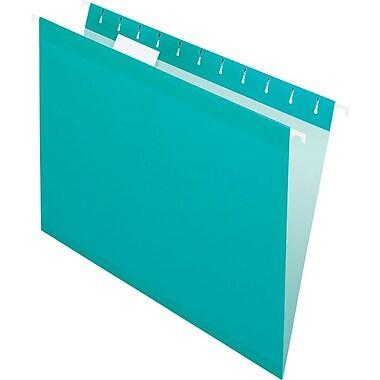 Pendaflex 5 Tab Hanging File Folders, Letter, Aqua, 25/Box