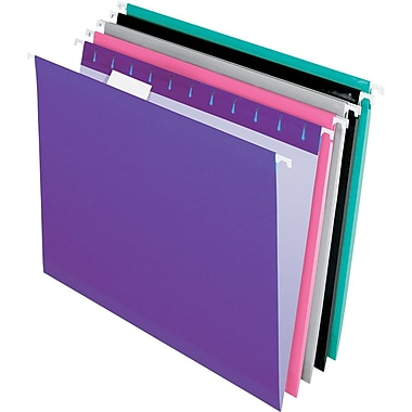 Pendaflex 5 Tab Hanging File Folders, Letter, Assorted Colors 1, 25/Box