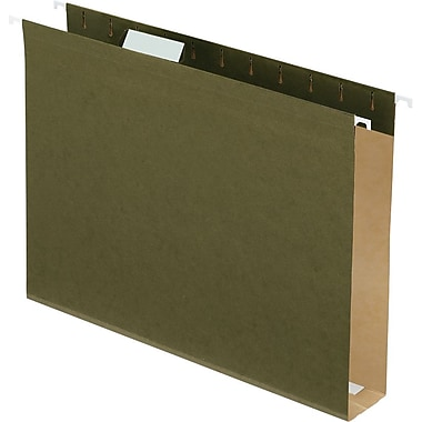 Pendaflex Box-Bottom Hanging File Folders, Letter, 2in. Capacity, Standard Green, 25/Box