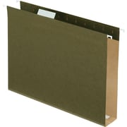 Pendaflex® Box-Bottom Hanging File Folders, Letter, 2 Capacity, Standard Green, 25/Box