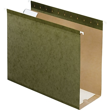 Pendaflex Box-Bottom Hanging File Folders, Letter, 4in. Capacity, Standard Green, 25/Box